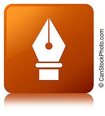 Pen icon brown square button