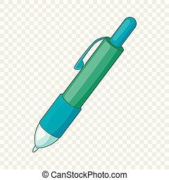 Pen icon, cartoon style