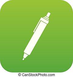 Pen icon digital green