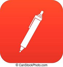 Pen icon digital red