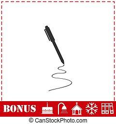 Pen icon flat