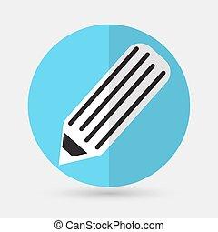 pen icon on a white background