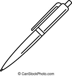 Pen icon, outline style