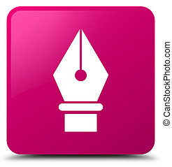 Pen icon pink square button