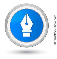 Pen icon prime cyan blue round button
