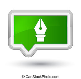 Pen icon prime green banner button