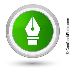 Pen icon prime green round button