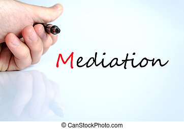 Pen in the hand mediation concept - Pen in the hand isolated...