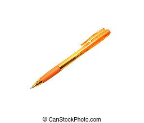 pen isolated on the white background with clipping path