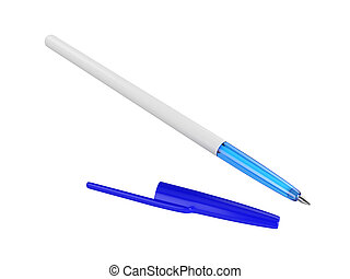 Pen Isolated on White Background, 3D rendering
