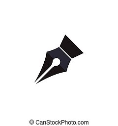 Pen logo illustration vector flat design