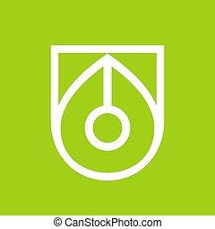 Pen logo template, writer icon design, nib vector logo, linear syle illustration