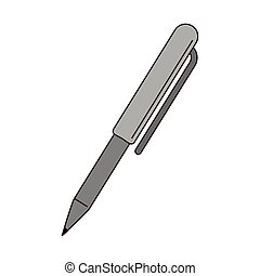 Pen office symbol isolated cartoon