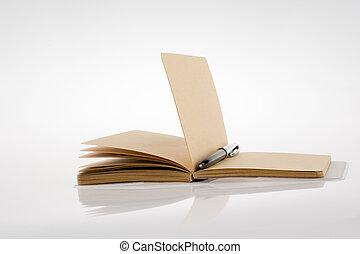 Pen on a notebook
