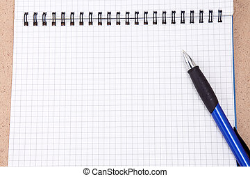 pen on binder pad