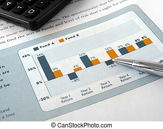Investment Chart - Pen on the Investment Chart with ...