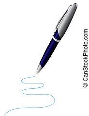 Pen on white