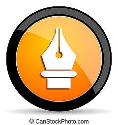 pen orange icon