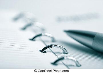 pen., organisateur, buisness, fond
