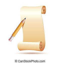 pen, papier