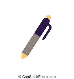 pen school supply flat style icon
