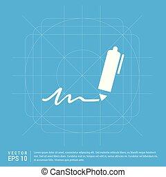 pen, schrijvende , pictogram