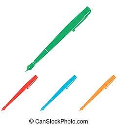 Pen sign. Colorfull set