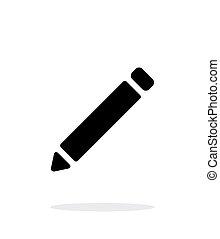 Pen simple icon on white background.