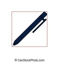 pen supply flat style icon