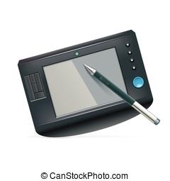 pen tablet vector illustration