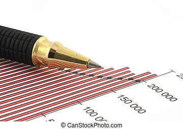 pen tip and business chart #2