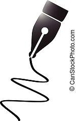 pen tip silhouette