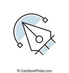 pen tool icon design