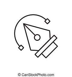 pen tool icon vector black