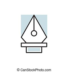 pen tool icon vector eps10