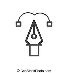 pen tool line icon