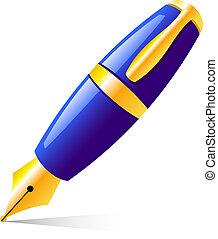 Pen - Vector pen. Isolated on white. EPS 8