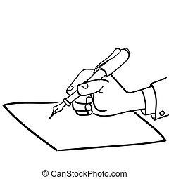 pen-vector, sg171006-cartoon, επιχειρηματίας , μετοχή του draw , γράψιμο