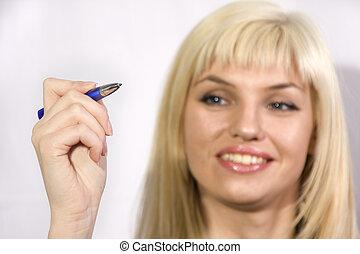 pen, vrouw