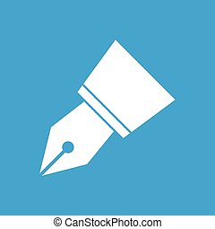 Pen white icon