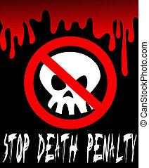 pena, muerte, parada