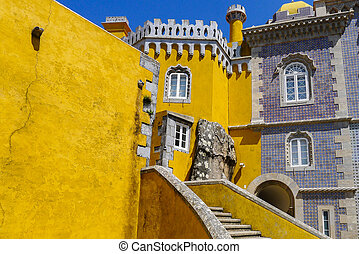 Pena National Palace in Sintra Portugal