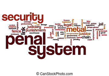 Penal system word cloud