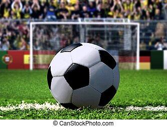 penalidade, futebol, pontapé