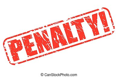 penalidade, selo, vermelho, texto