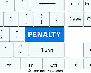 Penalty blue keyboard button