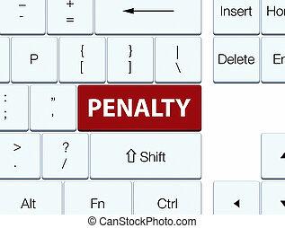Penalty brown keyboard button