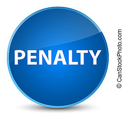 Penalty elegant blue round button