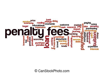 Penalty fees word cloud concept on white background