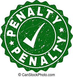 Penalty Scratched Stamp with Tick